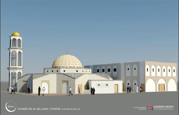 Architects rendering of New Masjid Bilal Complex